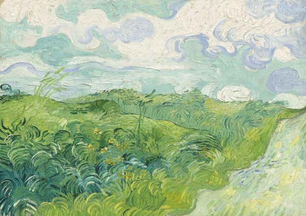 Van Gogh, Vincent: Green Wheat Fields, Auvers. Fine Art Print/Poster. Sizes: A4/A3/A2/A1 (003562)
